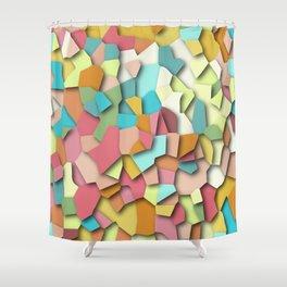 mosaic chaos Shower Curtain