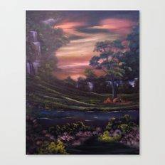 Heavenly Cascades Canvas Print