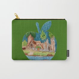 Watercolor Silhouette Snow White Apple Carry-All Pouch