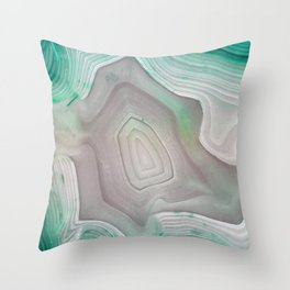 MINTY MINERAL Throw Pillow