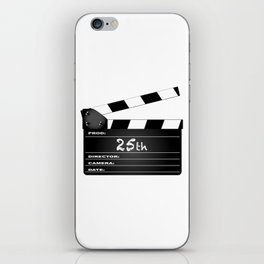 25th Year Clapperboard iPhone Skin