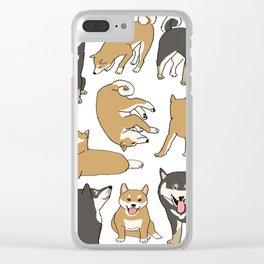 I love Shiba inu! Clear iPhone Case