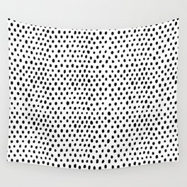 Polka dot rain Wall Tapestry