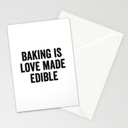 Baking Is Love Made Edible Stationery Cards