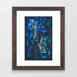 Composition in Blue Framed Art Print
