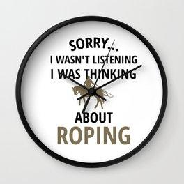 Team Roping   Rodeo Roper Horse Roping Calf Roper Wall Clock