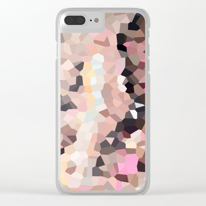 Pink Moon Love Clear iPhone Case