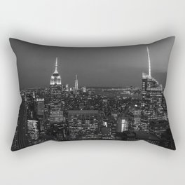 The Empire State and the city. Black & white photography Rectangular Pillow