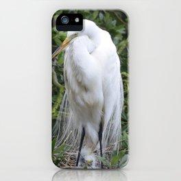 Proud Mama Egret iPhone Case