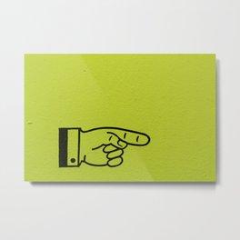 Direction Lime Green Metal Print
