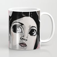 leia Mugs featuring Leia by Drawn by Nina