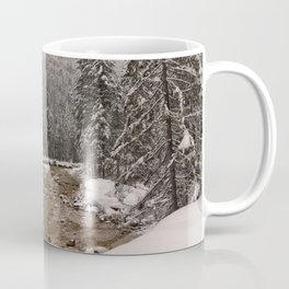 Wintry Sava River At Vrata Valley Coffee Mug