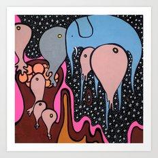 the RECURRING DREAM of the BLUE ELEPHANT Art Print