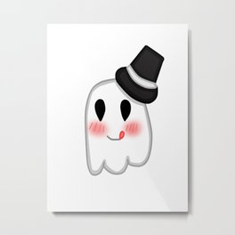 Ghost with a hat Metal Print