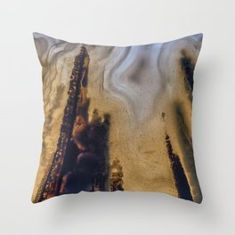 Scorched Earth agate Throw Pillow
