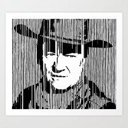 John Wayne Black & White Huge Poster Print Art Print