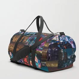 Cities of the world at night Duffle Bag