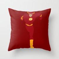 flash Throw Pillows featuring Flash by karla estrada