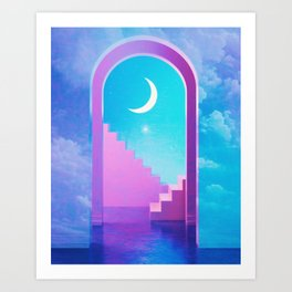 Moonarch Art Print