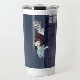 The Doctor and Clara Travel Mug