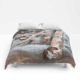 Frozen Avalon Falls Comforters