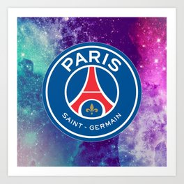Paris Saint Germain Galaxy Design Art Print