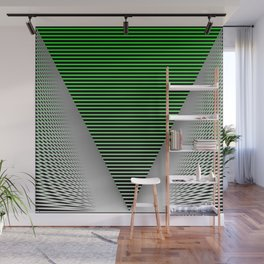 Graphic in green and black Wall Mural