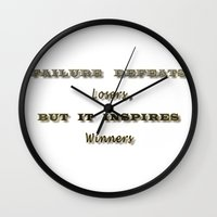 motivation Wall Clocks featuring Motivation by Cart My Art