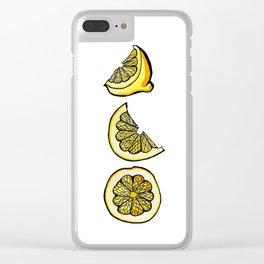 Trois Citrons 1 Clear iPhone Case