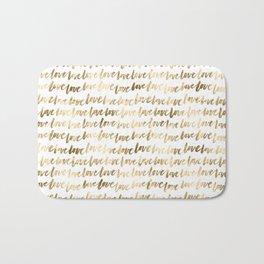 Gold Love Pattern Bath Mat