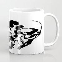rorschach Mugs featuring Rorschach  by yayanastasia