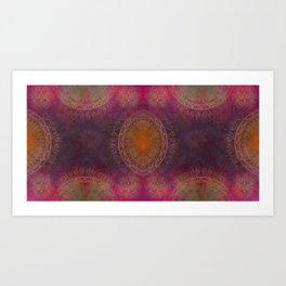 """Violet & Orange Mandala Deluxe"" Art Print"