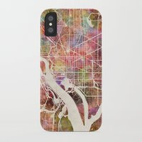 washington iPhone & iPod Cases featuring Washington by MapMapMaps.Watercolors