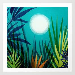 Midnight In The Jungle / Tropical Night Series #4 Art Print