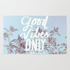 Good Vibes Only (palm trees) Rug