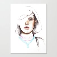 breathe Canvas Prints featuring Breathe by Rosalie Kate.