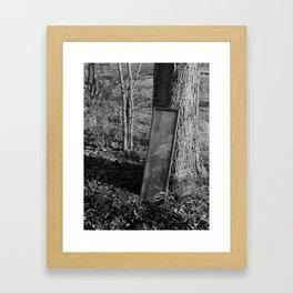 Mirror by Tree. Framed Art Print