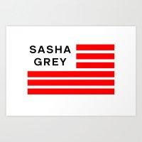sasha grey Art Prints featuring Sasha Grey by Spyck