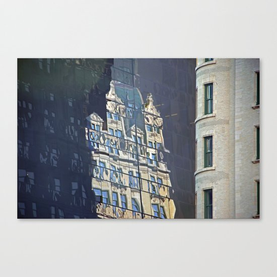 Ghost Building, NYC Canvas Print
