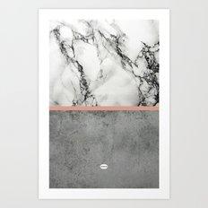 Marble Concrete fusion Art Print