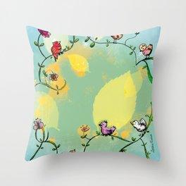 Three little birds Pitch by my door step Throw Pillow