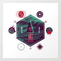 It fell from the stars, It rose from the sea Art Print