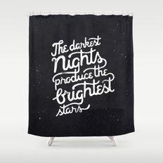 Darkest Nights Shower Curtain