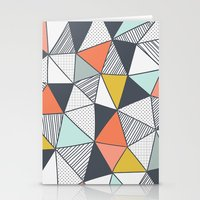 triangles Stationery Cards featuring Triangles by Patterns and Textures