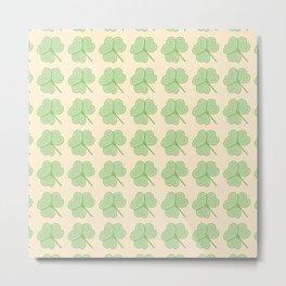 Cute Shamrock Pattern Metal Print
