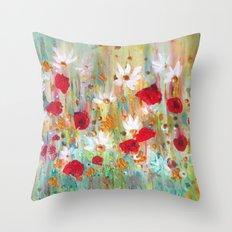A summer meadow Throw Pillow