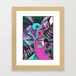 the color of money Framed Art Print