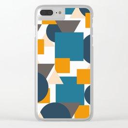 Geometric Mixture Clear iPhone Case