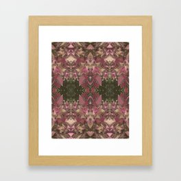 Red Shiso Warm Tones Pattern Framed Art Print