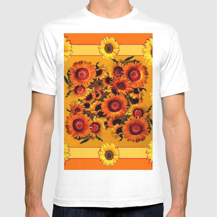 ORANGE YELLOW SUNFLOWERS ART T-shirt